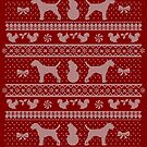 Ugly Christmas sweater dog edition - Border terrier by Camilla Mikaela Häggblom