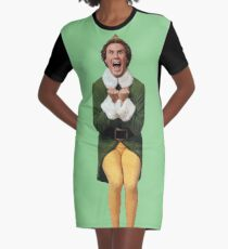 BUDDY THE ELF! Will Ferrell Elf Christmas movie Graphic T-Shirt Dress