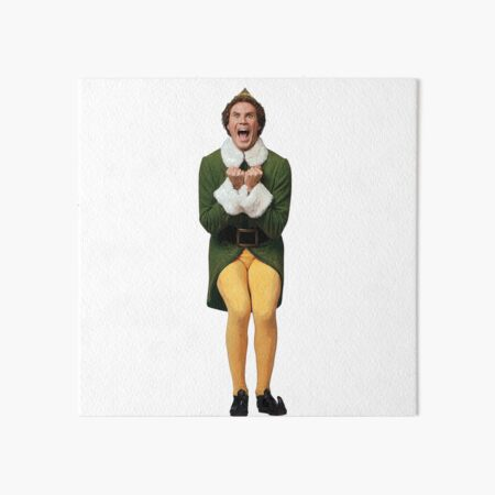 BUDDY THE ELF! Will Ferrell Elf Christmas movie Art Board Print