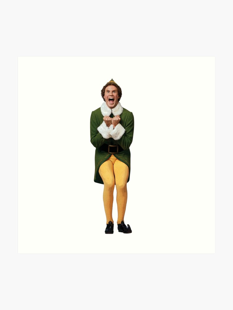 Buddy The Elf Will Ferrell Elf Christmas Movie Art Print