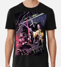 Star & Void Knights Duel in Space Men's Premium T-Shirt