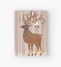 elk deer forest illustration Notizbuch