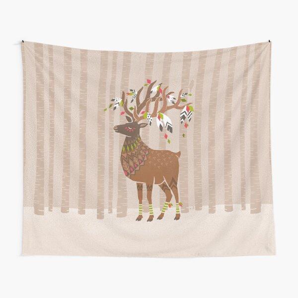 elk deer forest illustration Wandbehang