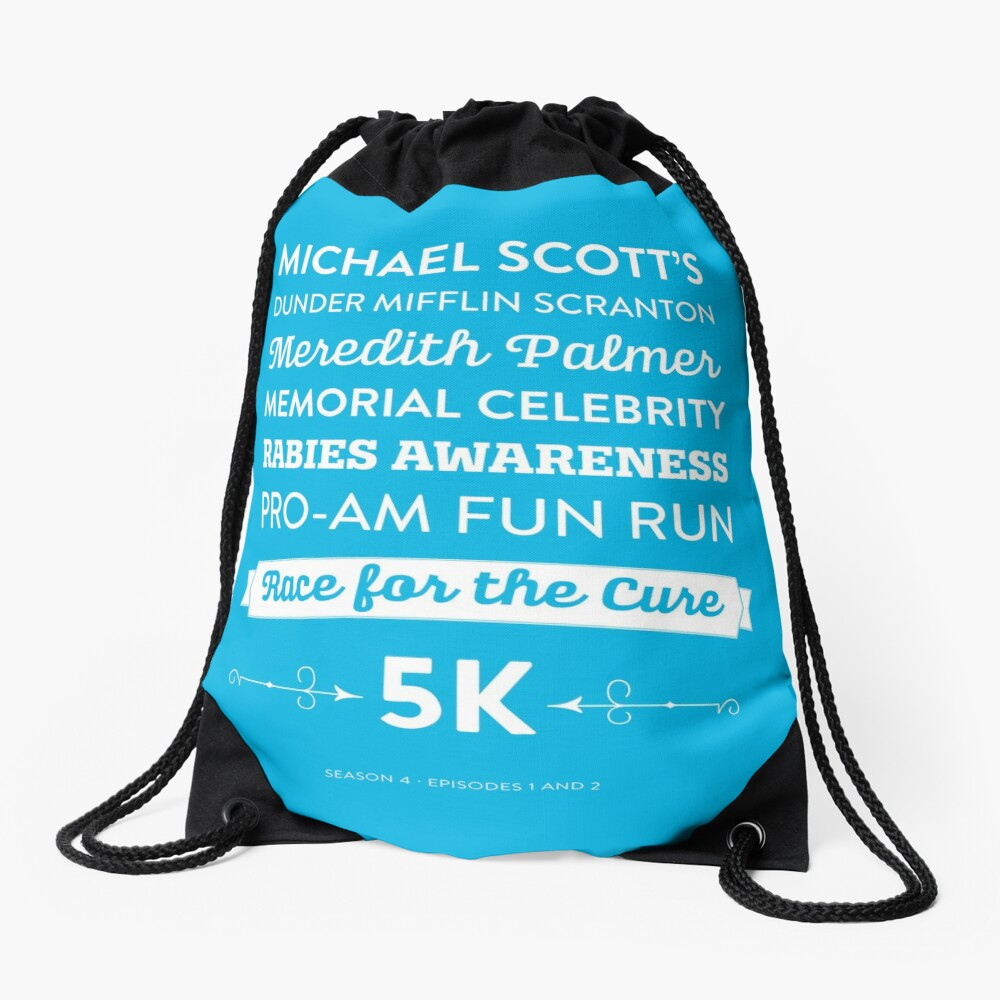 The Office - Rabies Awareness Fun Run Drawstring Bag