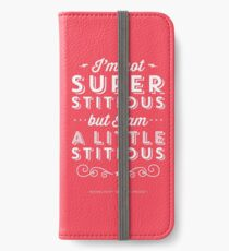 The Office Dunder Mifflin Michael Scott Quote - Superstitious iPhone Wallet/Case/Skin