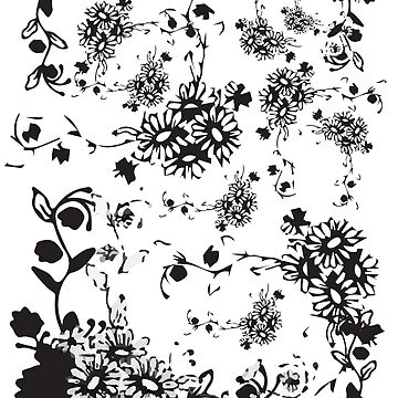 Floral design in black and white by EMc80