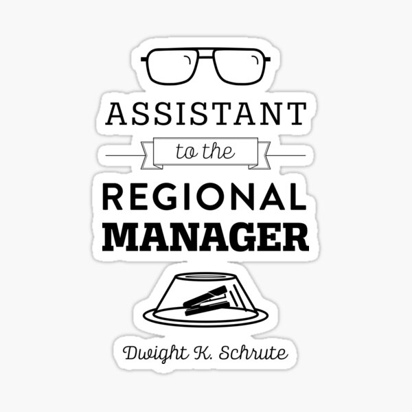 The Office Dunder Mifflin - Assistant to the Regional Manager Sticker