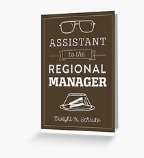 The Office Dunder Mifflin - Assistant to the Regional Manager Greeting Card