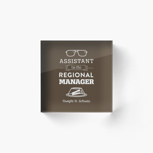 The Office Dunder Mifflin - Assistant to the Regional Manager Acrylic Block
