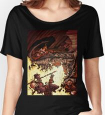 Dragon Incinerates Armored Warrior Women's Relaxed Fit T-Shirt