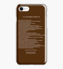 I Am A Baby Boomer and Proud Of It - Word Art iPhone Case/Skin