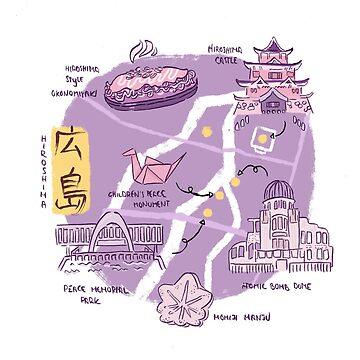 Hiroshima Map by Kakibot