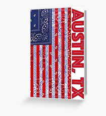 Austin, TX USA - Flagdana Greeting Card