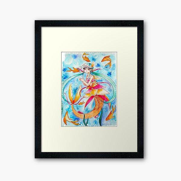 Mermaid & Fishies Framed Art Print