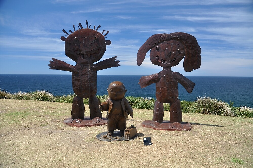 Sculptures By The Sea,Bondi,NSW 2017-Three Figures by muz2142
