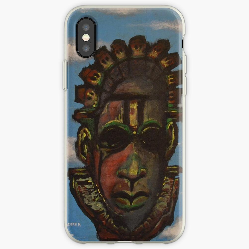 Máscara de Benin Funda y vinilo para iPhone