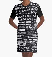 rupaul's drag race - queens names - mosaic Graphic T-Shirt Dress