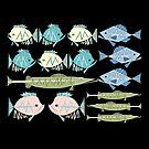 Atomic Fish Pattern by hepcatshaven