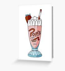 Pop's Milkshake / Riverdale Greeting Card