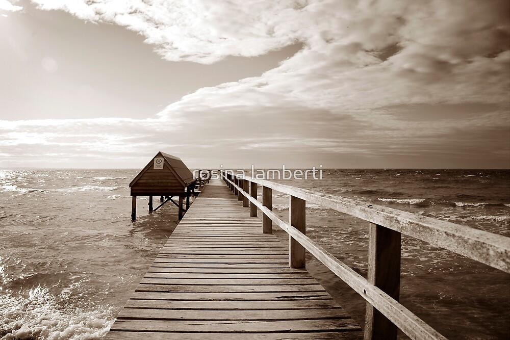 Storms on Shelly's beach by Rosina  Lamberti