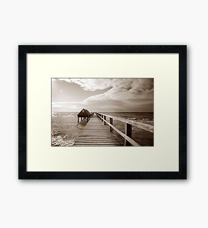Storms on Shelly's beach Framed Print