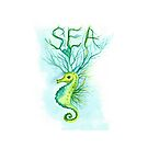 SEa with Seahorse by ChubbyMermaid