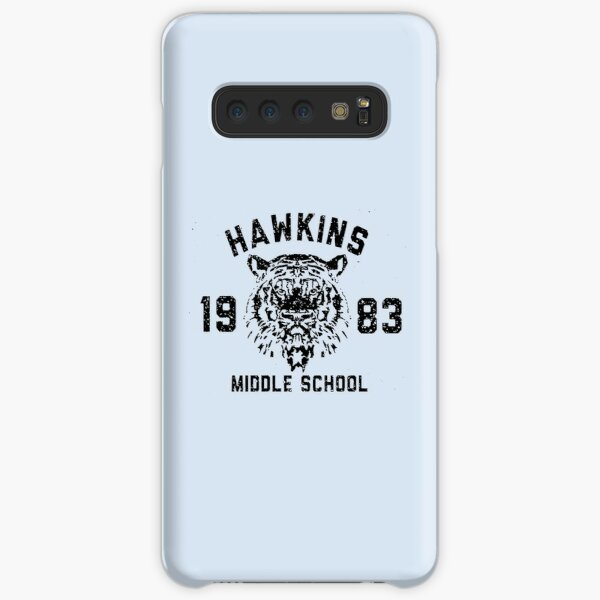 110. Stranger Things Hawkins Middle School black version Samsung Galaxy Snap Case