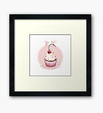 Cherry Cupcake Framed Print