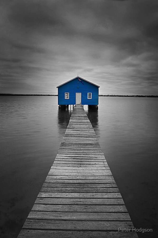 Blue Boatshed by Peter Hodgson