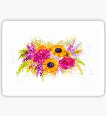 Helle, fröhliche und hübsche Blumen Sticker