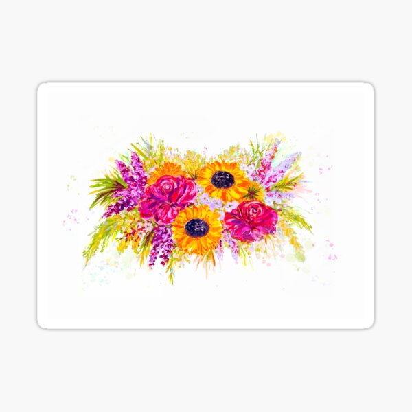 Bright, Cheerful, and Pretty Flowers Sticker