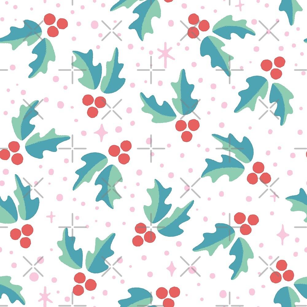 Christmas Holly Pattern by KristyKate