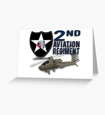 2nd Aviation Regiment Apache Greeting Card