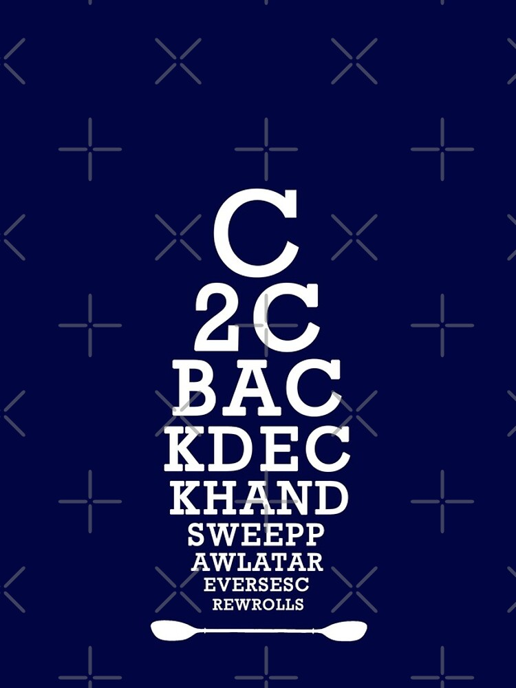 Whitewater Kayak Roll Eye Chart for Kayakers and Paddlers by Compassandbliss