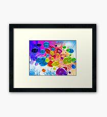 When Rainbows Melt Into Bubbles Framed Print