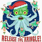 Funny Christmas Release the Kringle Santa Claus Kraken by emkayhess