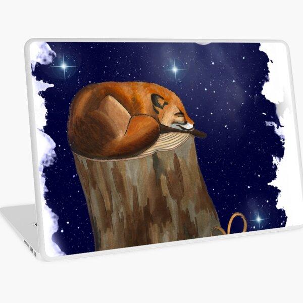 Fox Christmas Pen Illustration Laptop Skin