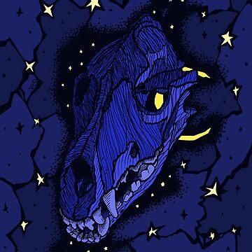 Spooky Wolf Skull by danibeez