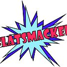 FLATSMACKED Stickers (Red & Blue) by GLOBEXIT
