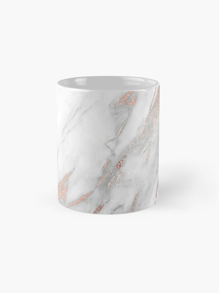 Alternative Ansicht von Eleganter Rose Gold Marmor Tasse (Standard)
