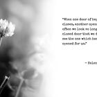 Helen Keller Quote with Clover by Rachael Martin