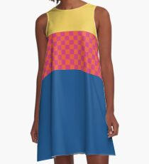 Happy Checkerboard No. 4 A-Line Dress