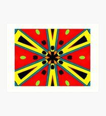 Colorful Starburst Art Print