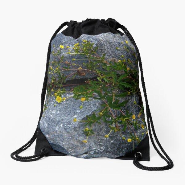 Tormentil, Dun Aengus, Inishmore, Aran Islands Drawstring Bag