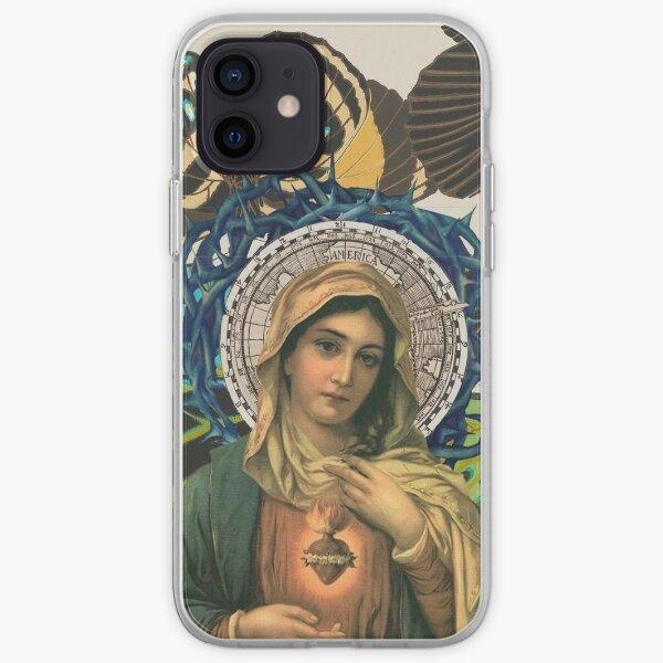 Coque iPhone « Vierge Marie avec le Sacré Cœur de Jésus », par ...