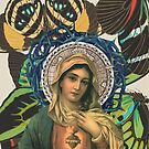 Virgin Mary with Butterflies by dennisjordan