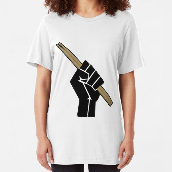 Fight for your right to drum............... Slim Fit T-Shirt