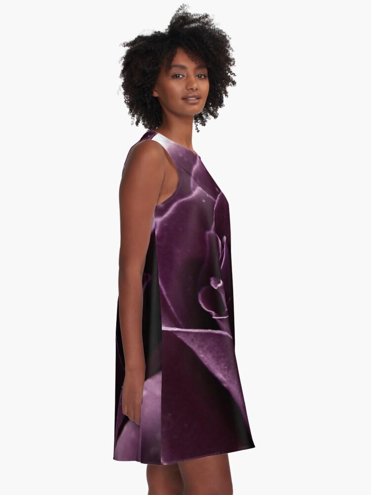 Alternate view of Purple Rose II A-Line Dress