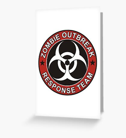 ZOMBIE RESPONSE TEAM 3 color Greeting Card