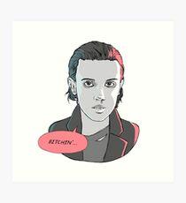 Eleven Stranger Things 2 Art Print